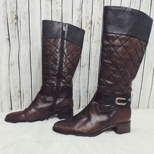fb93ce71ae1 Brighton 'Jake' Quilted Leather Riding Boots Sz 8